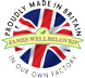 Proudly made in Britain in our own factory